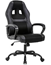 BestOffice Office Chair Desk Gaming Racing High Back Computer Task Swivel Executive Stool with Lumbar Support, Black