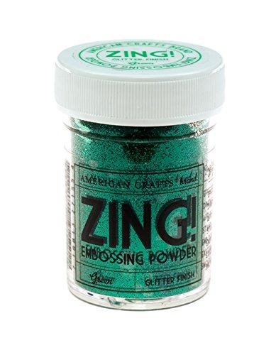 Americani Mestieri 1-Piece 1 oz Zing scintillio goffratura in polvere, verde American Crafts ZGE-27155