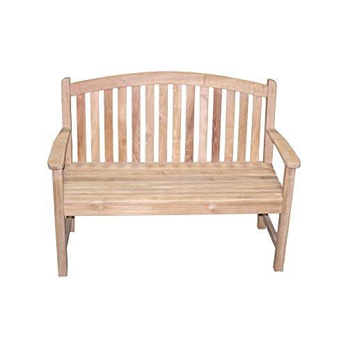 Titan Teak Bow-Back Bench for Porches, Decks, and Patios, Outdoor Furniture | - Teak Back Bench