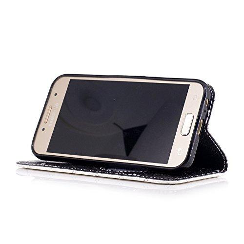SRY Cierre magnético de la PU carpeta de cuero Flip Folio funda protectora para Samsung Galaxy A3 2017 A320 ( Color : Purple ) White