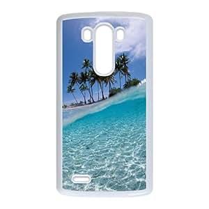 Beach LG G3 Cell Phone Case White Phone cover F7611153
