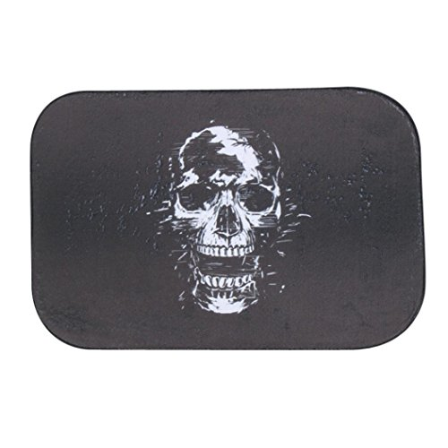 Iuhan Fashion Skull Door Kitchen Carpets Memory Foam Bathroom Absorbent Non-slip Mat (H) (Indian Couple Costume)