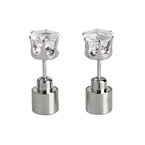 FuzzyGreen LED Earrings Studs, Colourful New Cute Glowing Flashlight Light Up Crystals Diamond Ear Studs Drop Pendant Jewelry