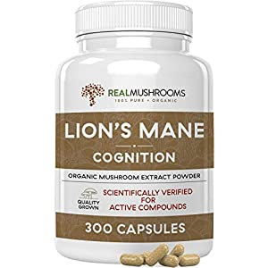 Gut Health Shop 41ceag4LRcL._SS300_ Lions Mane Mushroom Cognition Capsules for Mental Clarity (300ct) | Lions Mane Powder Extract Capsules for Focus…