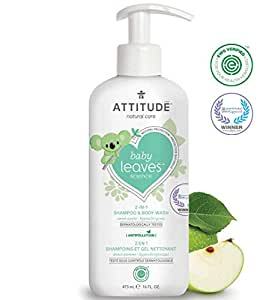 Attitude Baby Leaves 2In1 Natural Shampoo - Apple - 473 ml