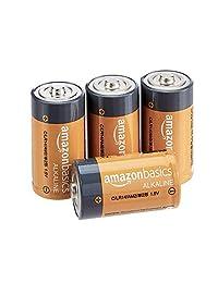 AmazonBasics C Cell 1.5 V pilas alcalinas diarias, 4 Pilas