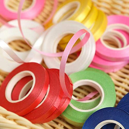 Color Curling Ribbon - DNHCLL 10 Rolls Metallic Curling Ribbons Balloon Ribbon for Parties, Festival, Florist, Crafts and Gift Wrapping(10 Colors,10 Meters per roll)