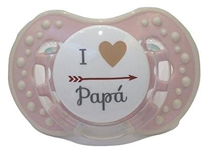 Chupete Chupete ROSA PINK personalizado con frase Io amo papa Talla ...