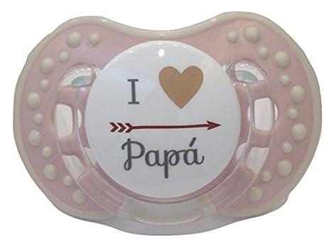 Chupete Chupete ROSA PINK personalizado con frase Io amo ...