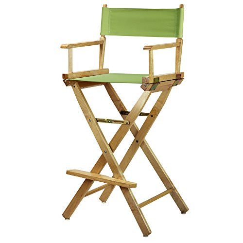 Casual Home 230-00/021-72 Director's Chair Natural Frame Canvas, 30''-Bar Height, Lime Green by Casual Home