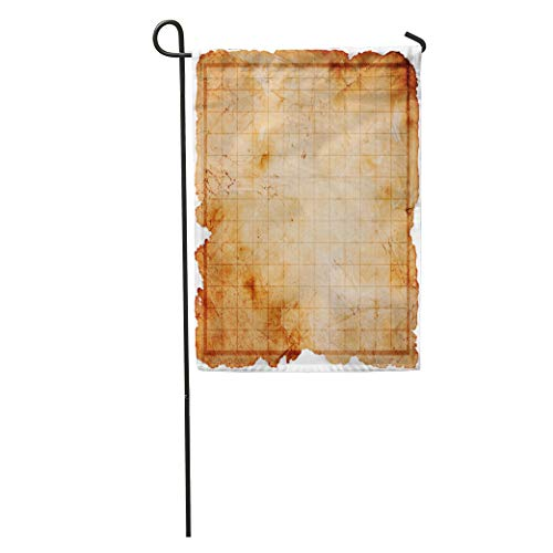 (Semtomn Garden Flag Game Blank Pirate Treasure Map Abstract Age Aged Antique Burn Home Yard House Decor Barnner Outdoor Stand 12x18 Inches)