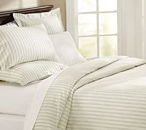Amazon Com Pottery Barn Ticking Stripe Duvet Cover Amp Sham