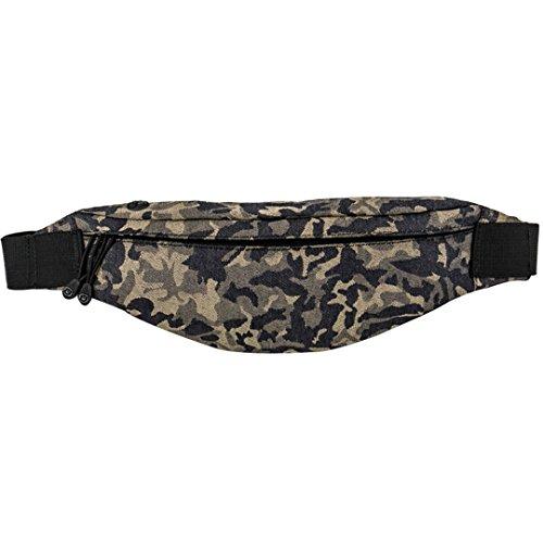 Monique Men Women Camouflage Print Fanny Pack Rave Festival Waist Bag Chest Pack Cross-body Bag Purse Phone Pouch Yellow