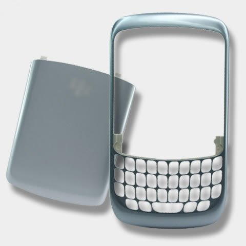 Blackberry Curve 8520 Cover - Frost Face Faceplate Front+Back Housing Battery Cover For BlackBerry Curve 8520 8530