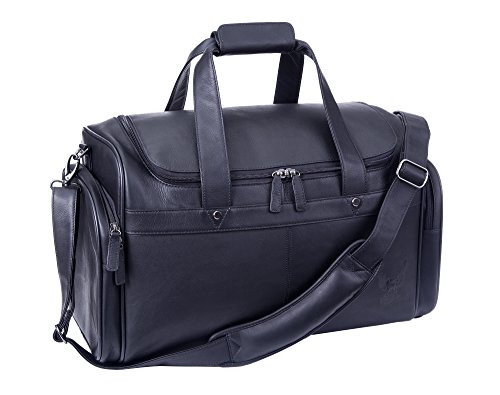 Harley Davidson Leather Duffel, Black, One Size