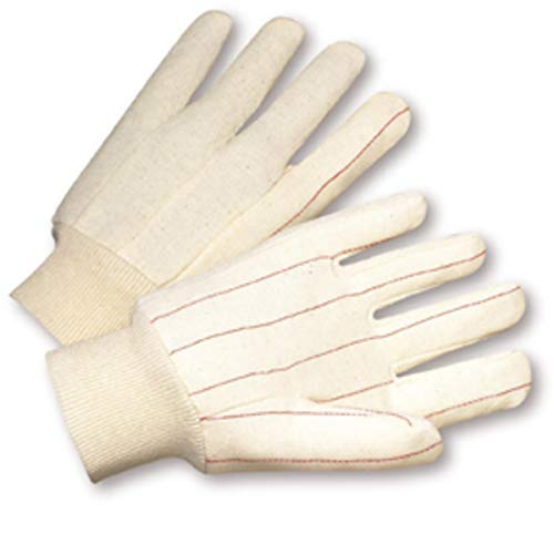 Mill Hot Knit (West Chester X-Large Natural Medium Weight Cotton Hot Mill Gloves With Knit Wrist - 12 Pair/Dozen)