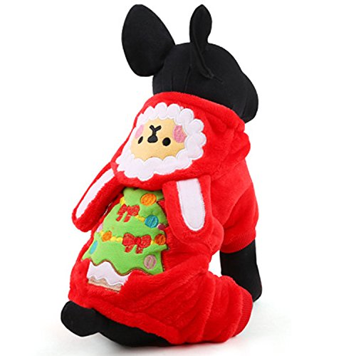 Laku Dog Christmas Suit Dog Costume Warm Pet Dog Costume Small Dog Hoodies (Person Carrying Person Halloween Costume)