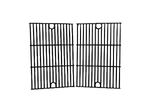 Music City Metals 61642 Gloss Cast Iron Cooking Grid Replacement for Gas Grill Model Kenmore 122.16431010, Set of 2