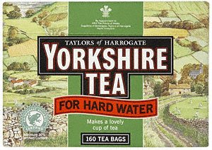 Yorkshire Tea Bags Hard Water ( 12 X 160 Pack ) by Tyalors of Harrogate Yorkshire tea