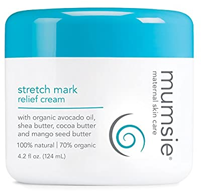 Mumsie Maternal Skin Care Stretch Mark Relief Cream, 4.2 Fluid Ounce