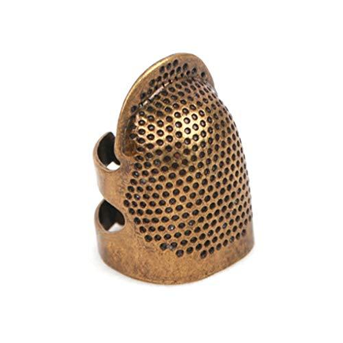 Pegcduu 2pcs Ajustable dedal de Costura Herramientas de Uso doméstico Que Hace Punto de Bricolaje ThimbleQuilting…