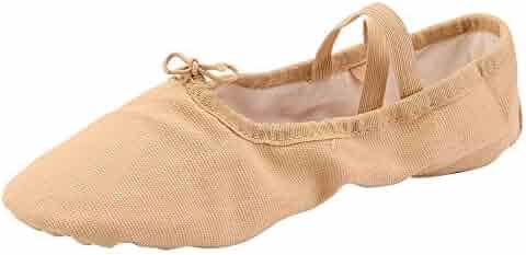 539c73c8e289 Women s Canvas Ballet Slippers Practice Yoga Flat Shoes Split Belly Shoes