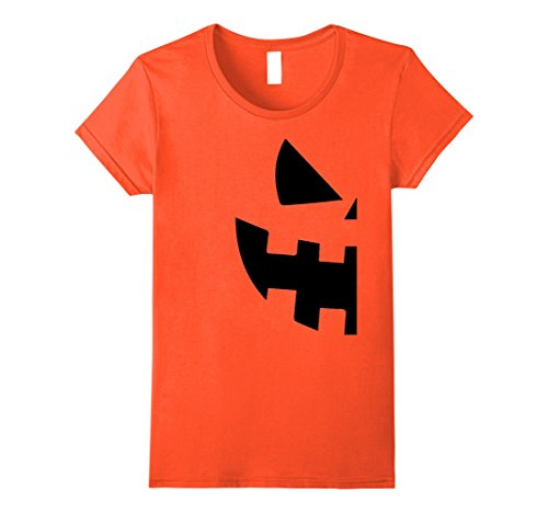 Womens Halloween Jackolantern T Shirt - Couples Halloween Costume Large Orange