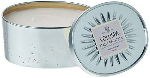 Voluspa Casa Pacifica 2 Wick Oval Tin Candle, 12 Ounces (Casa Candle)