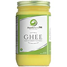 Bayolisfarms Gourmet Clarified Butter - 100% Natural Home Ghee from Grass Fed Cows 8 Oz JAR (3 Pack) - Small Batches Made in San Jose, CA