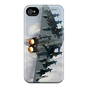 New Tpu Hard Case Premium Iphone 4/4s Skin Case Cover(fighter Jet)