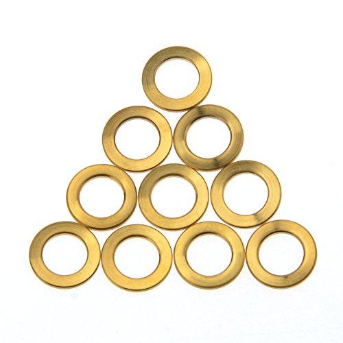 Wanyifa Titanium Ti M6 Flat Washers Brake Stem Bottle Cage Screws pack of 10 (Gold)