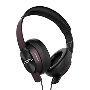 "SOL REPUBLIC Master Tracks XC Over-Ear Headphones, Studio Tuned by Calvin Harris, Virtually Indestructible, 6-foot long Coiled Pro Cable, Detachable 1/4"" Adapter, Mic + Music Control, SOL-HP1631RD"