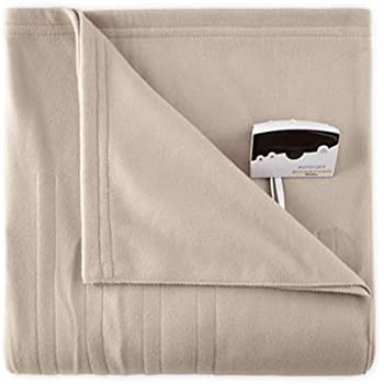 Biddeford 1000-9052106-700 Comfort Knit Fleece Electric Heated Blanket Twin Taupe