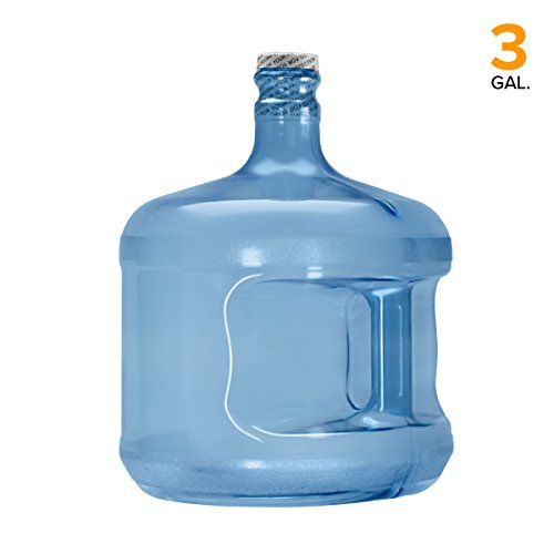 Blue Polycarbonate Water Bottle - Polycarbonate Plastic Reusable Water Bottle Container (Made in USA) (3 Gallon)