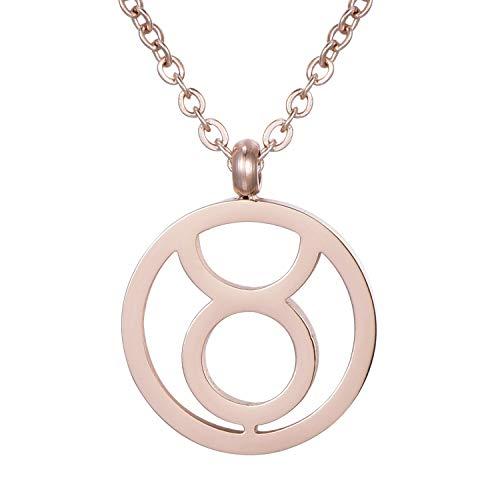 Morella Collar Acero Inoxidable Oro Rosa con Colgante Signo del Zodiaco en Bolsa de Terciopelo a buen precio