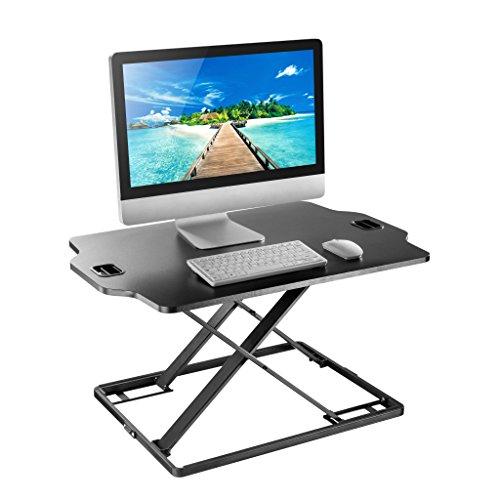 Jestik Ultra Slim Adjustable Sit-Stand, Tabletop Sit to Stand Workstation, Standing Desk, 32'' Wide Desktop Workstation (JM-DWS08-02) by Jestik