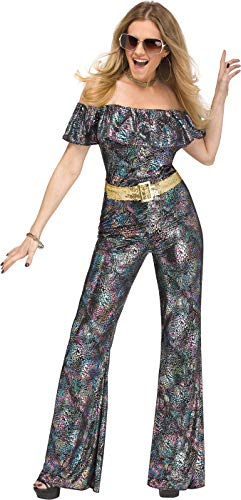 Disco Themed Costumes (Fun World Women's Disco Queen, Multi, M/L Size)