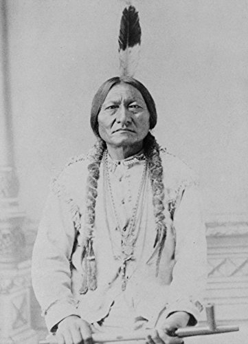 Sitting Bull Native American with Peace Pipe - Vintage Photograph (24x36 SIGNED Print Master Giclee Print w/ Certificate of Authenticity - Wall Decor Travel Poster) (Bull Vintage)