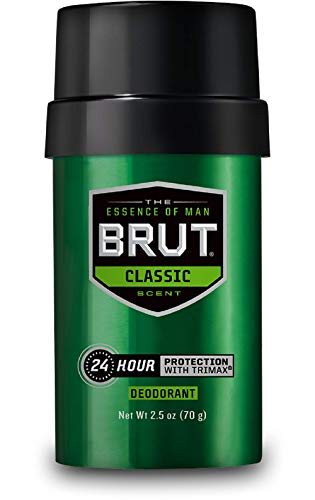 Brut Classic Round Deodorant Stick, 2.5 Ounces (2 Pack)