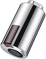 LTXDJ Intelligente kraan, contactloze adapter met bewegingssensor, waterbesparende sensorkraan voor badkamer, keuken, geschikt voor 22-24 mm