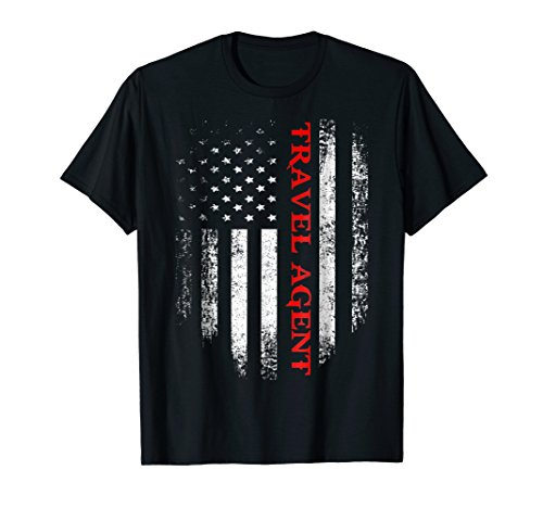 Vintage USA Travel Agent American Flag Patriotic T-Shirt by Jobs USA Flag Patriotic Lover (Image #2)