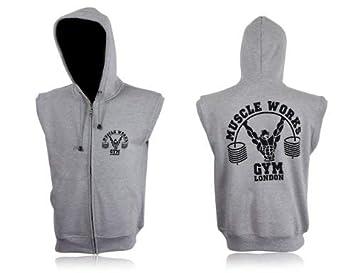 1fb69215 Muscle Works Gym Sleeveless Hoodie MMA Boxing Gym T Shirt Men BOXE Vest UFC  Fleece (