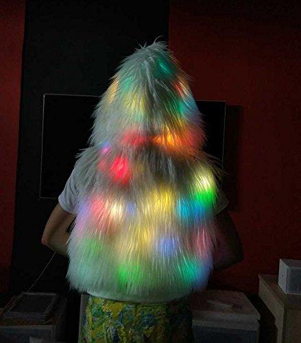 ledes de MAYEVER® Chaqueta intermitentes material Vest luces con sintético Hoodie claras brillantes BaHY7wq