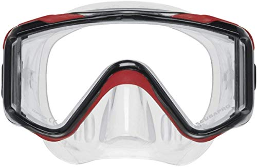 Scubapro Crystal VU Plus Single Lens Mask with Purge - Red/Gray