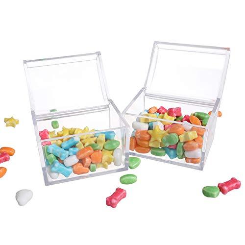 SuperCS 1/6/12Pcs Kids Infant Transparent Candy Gift Container Bottle Jar with Lid Decor