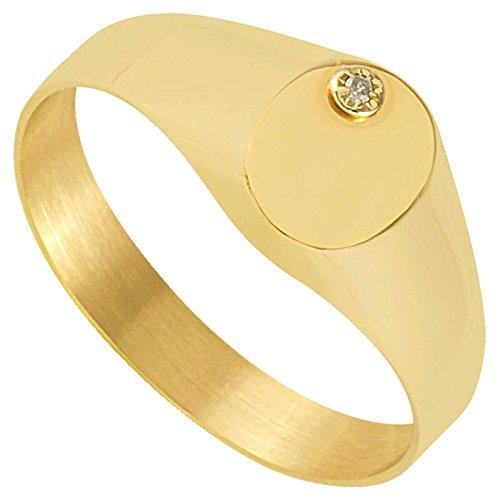 Orleo - REF12174BB : Chevalière Femme Or 9K jaune et Diamant - Fabriqué en France