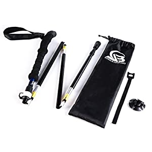 YOUNGDO Collapsible Trekking Pole 5-Section Design-7075 Aluminum Alloy for Hiking Walking Skiing Traveling Climbing