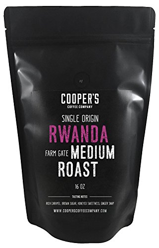 Rwanda Full Bodied Medium Roast Coffee Beans, Farm Gate Direct Trade, Micro Lot Single Origin Whole Coffee Beans, Gourmet Coffee - 1lb Bag