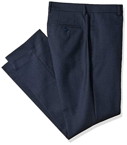 Calvin Klein Men's X Performance Slim Fit Flat Front Dress Pant, Navy, 42W x ()