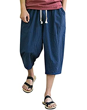 Men's Shorts Plus Size Linen Trousers Trunks Summer Beachwear Pants